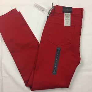 New NYDJ Alina red legging sculpting jeans size 8